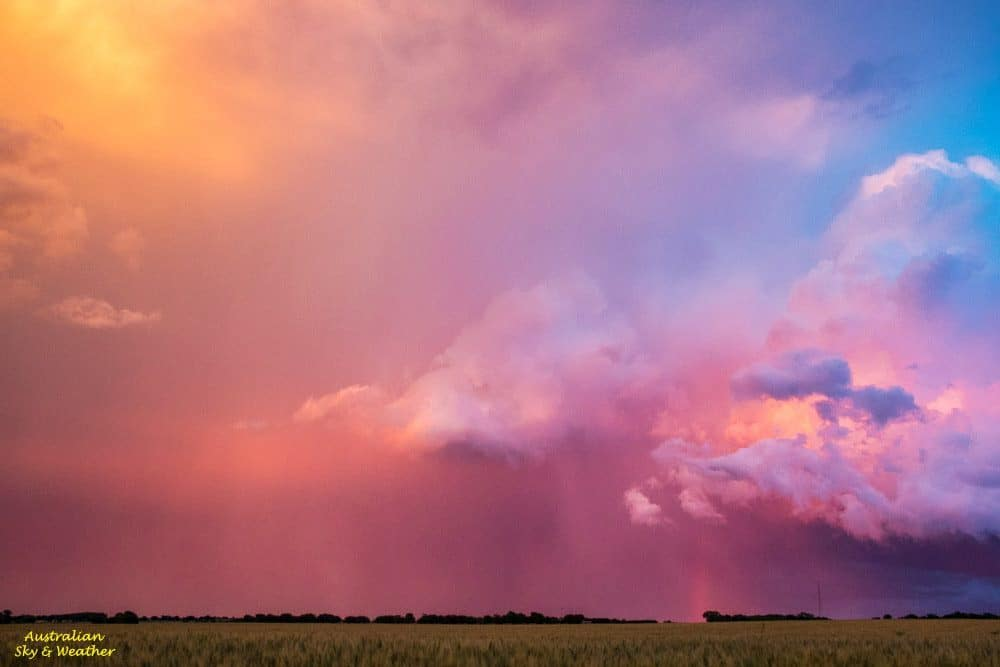 Sometimes everything comes together and the light completely blows your mind!!! This is what yesterday evening's sunset-illuminated cumulonimbus looked like........I've only ever seen one other sunset to come close to this in 60 years, so it was pretty special....9th May 2016 NE of Ponca City, Oklahoma.