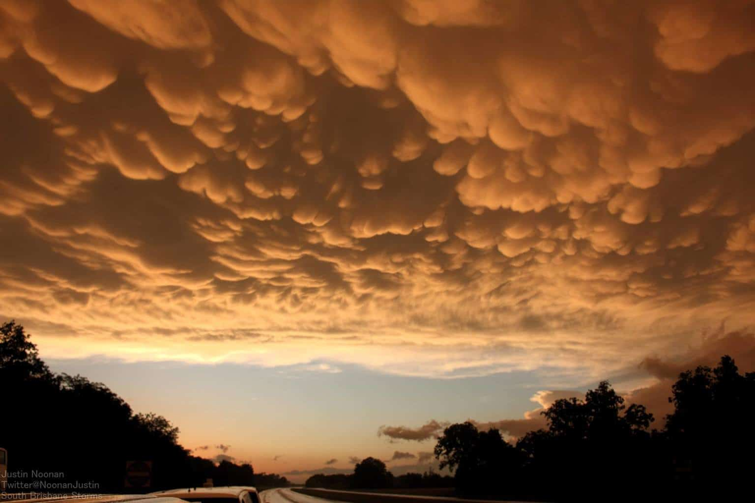Amazing mammatus display yesterday afternoon in south eastern Oklahoma..