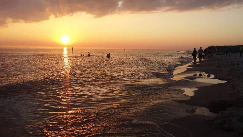 July 2015: PJ Hoffaster State Park Norton Shores, MI. Lake Michigan Beach.