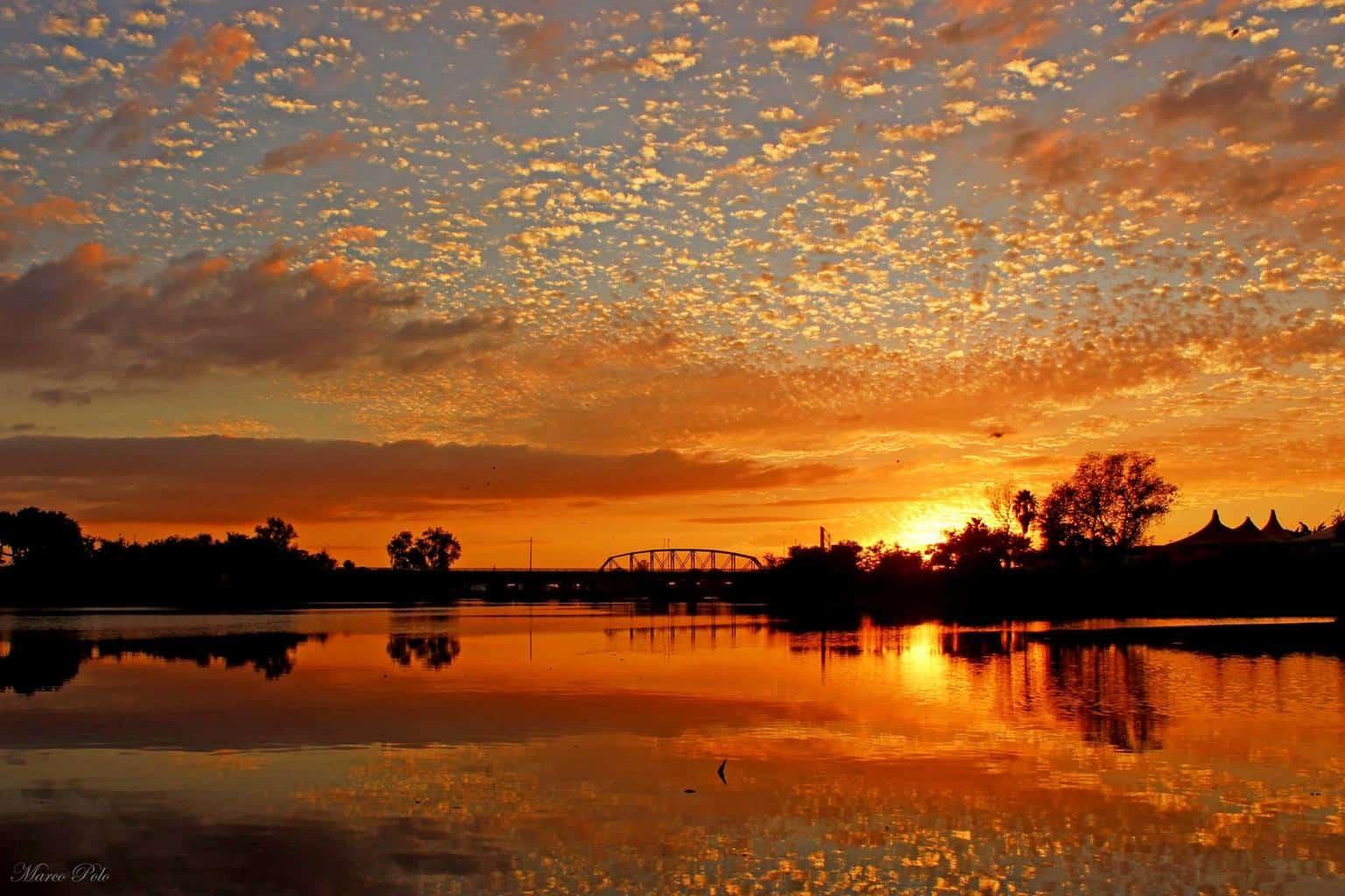 Sunset reflections. Sinaloa, Mexico..