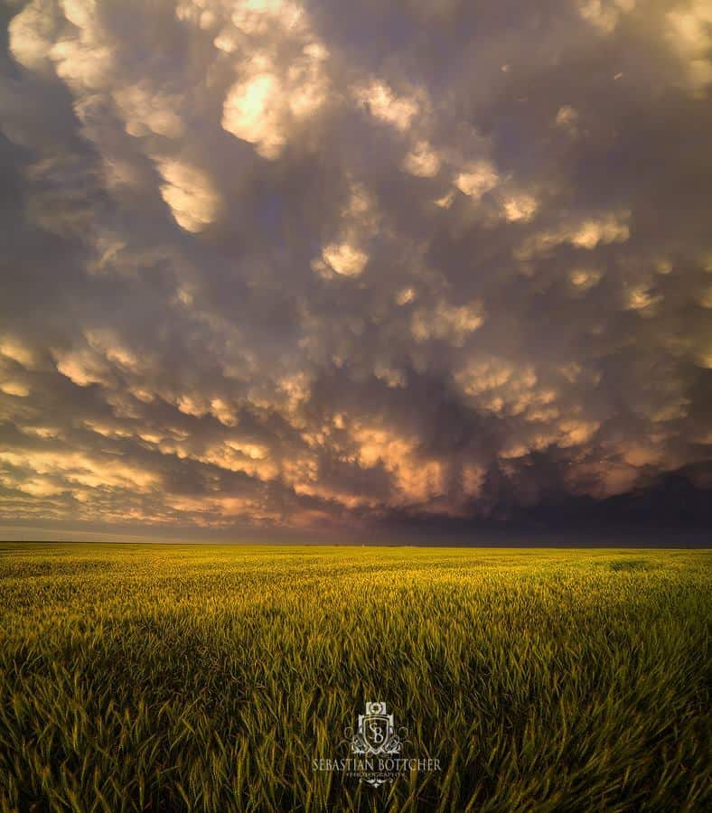 Supercell Mammatus --- Incredible Mammatus Display after the famous tornadic Supercell near Dodge City, Kansas, USA on May 24, 2016. What a fascinating ending of a Day!