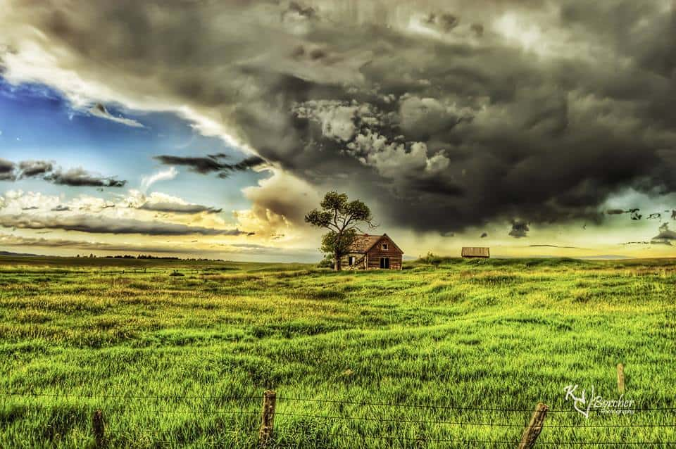 I took this last summer as a big Wyoming storm came rolling in!