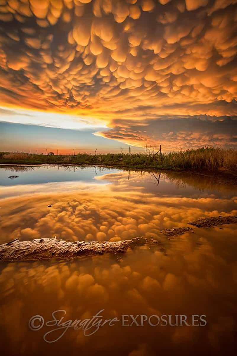 Most incredible display of Mammatus I have ever seen! Sunset after an epic tornado day in the Dodge City, Kansas area - May 24, 2016! A day I will never forget!!