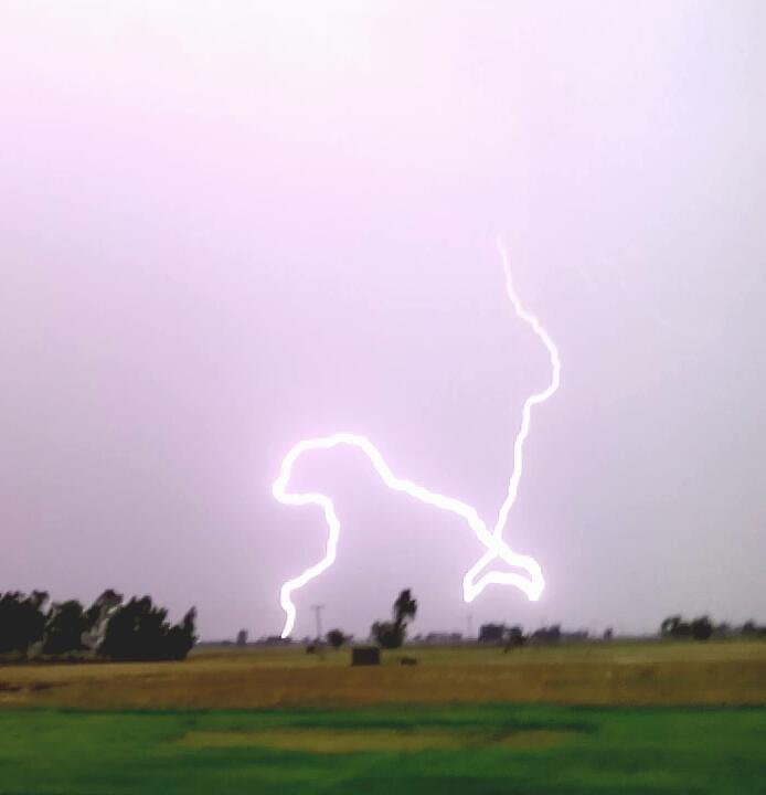 Pasrur Punjab Pakistan It's amazing. Isn't it :) thunderstorm back side I took this picture yesterday.