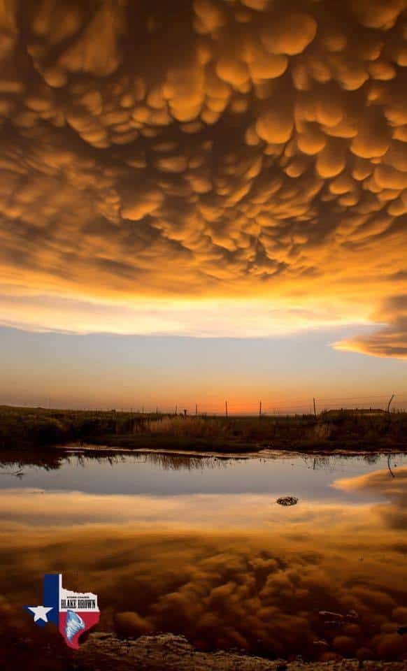 The best mammatus display I have ever seen near Dodge City Kansas last Tuesday! 5-24-16