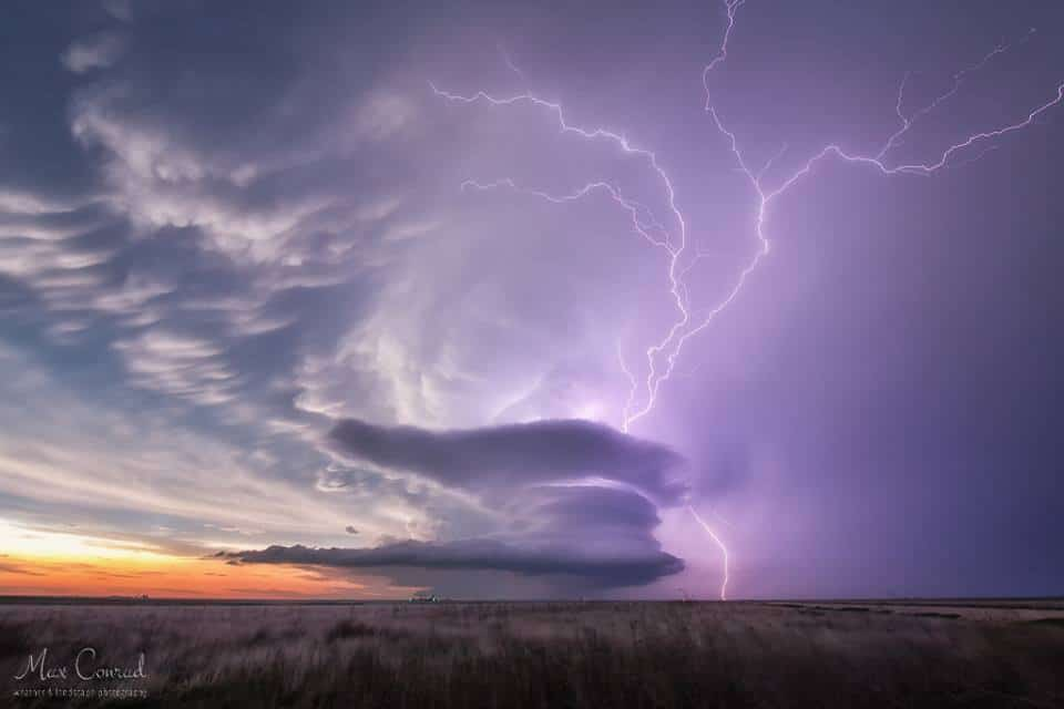 """* High five * The most amazing supercell storm of our """"chasecation"""" high fives at the end of its lifetime. I still cannot believe how generous mother nature had been that special day! I hope you are not yet tired of photos from Leoti - but this one I had to share as well :) Leoti, Kansas, May 21st 2016 single shot, 4 seconds exposure time"""