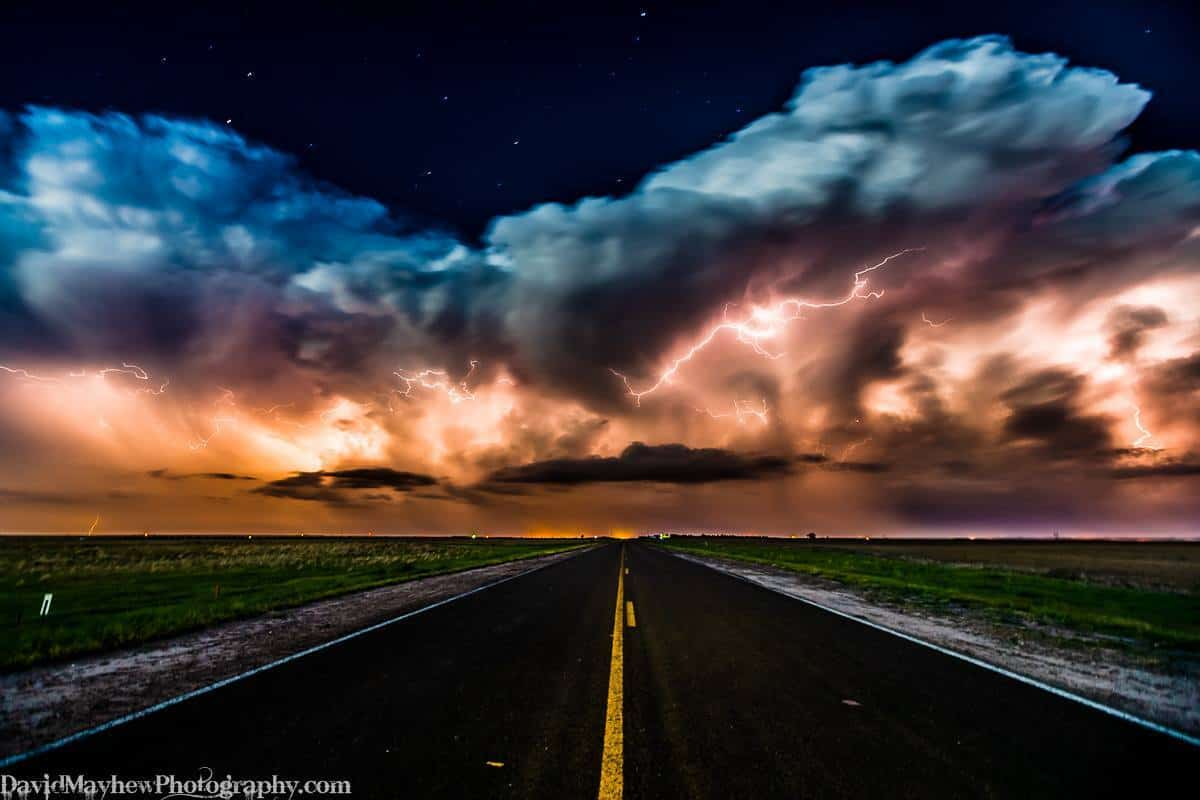 May 22nd, 2016 near Big Springs Nebraska Storms fired along the dry line boundary in Western Nebraska at dusk last night, it was fun driving under the line as the storms were forming - strong winds and lots of blowing dust, followed by a nice lightning show. 30 sec exposure