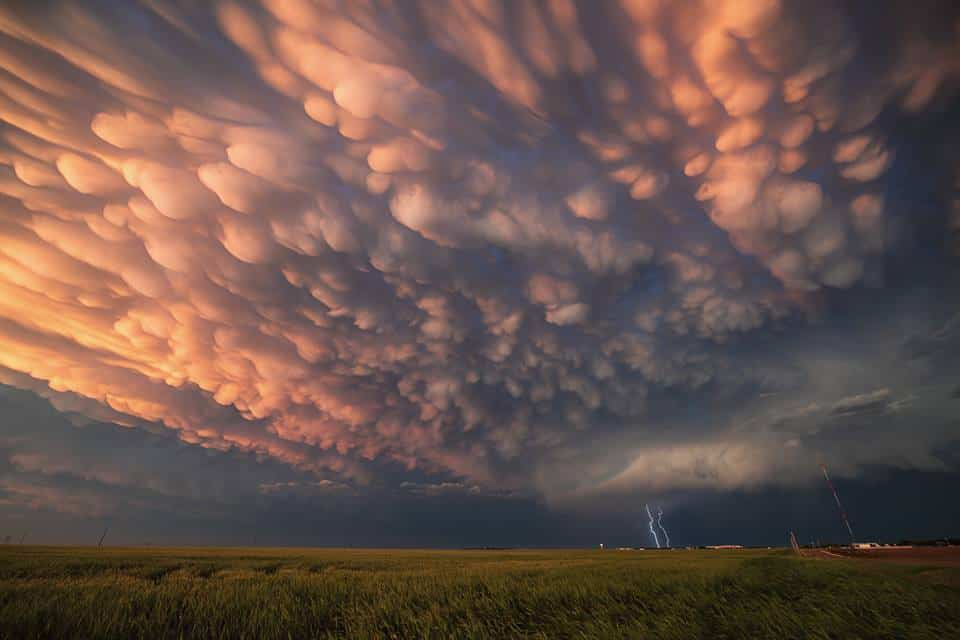 Epic end to an insane storm chase, May 24 near Dodge City, Kansas.