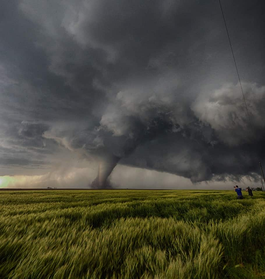 Dodge city, KS, 24-5-2016  The day of the tornado's
