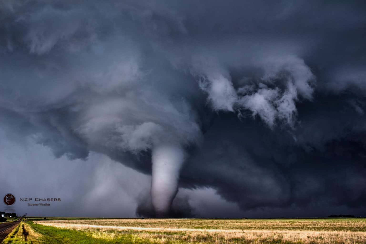 Pic from tornado on Tuesday near Dodge City, KS. Incredibly photogenic.