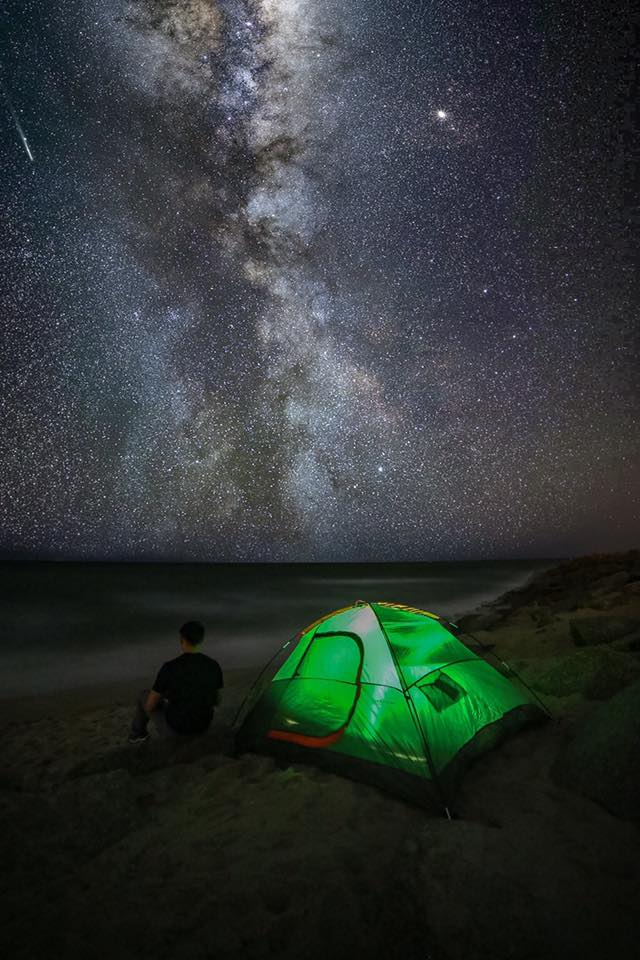 My tent was lit last night! ? — at Fort Fisher.