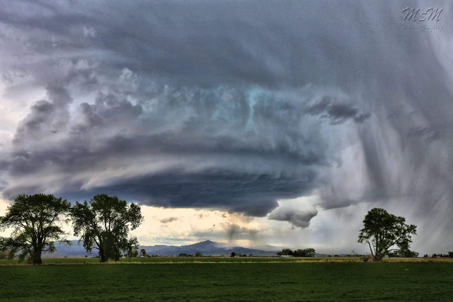 Fast moving storm that came from Cody to Powell, WY today. It dumped a lot of hail in parts of Cody. We don't see cells like this very often in this area! 5/20/16.