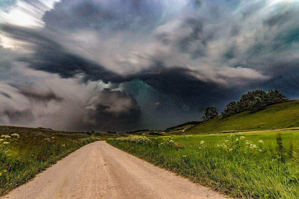 """Wow, this weekend we had a massive Severe Weather here in South West Germany with a lot of Damage by Flood, Hail and Fire by Lightning. I took my Chance to show you the """"Beauty of the Beast"""". Hailstorm over the Swabian Alb"""