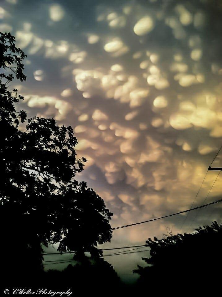 Mammatus clouds over. Coleman TX. Spring 2015