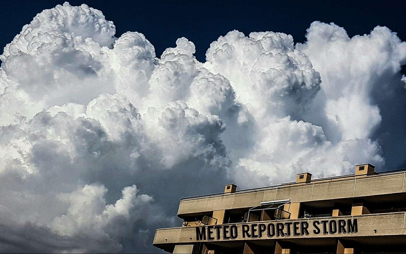 Cumulonimbus Above The Building