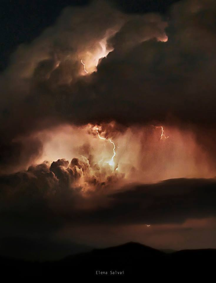 A storm in Tuscany, Italy
