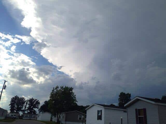 A look back of last year this supercell went right over us and the rotation went right behind our house