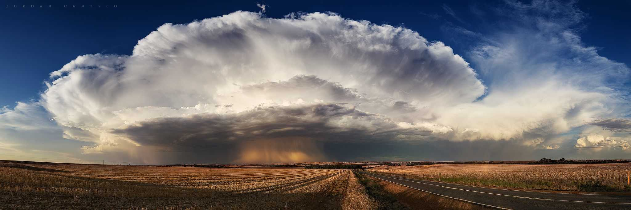 Pretty epic conditions forming up in front of me when I was approaching a maturing thunderstorm out east of Perth, Western Australia.