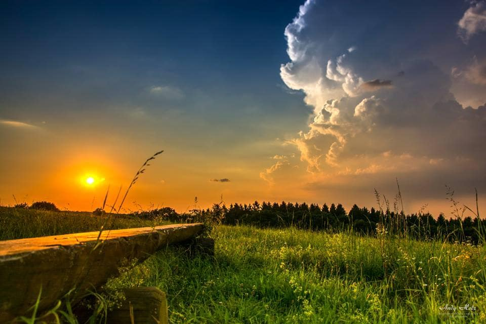 Sunset thunderstorm, Grosshau/Germany, Jul 23rd 2014