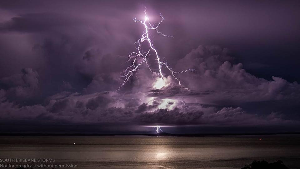 Amazing storms in northern Australia last night.. Some of the most lightning active that I've seen in years and years.. Here was one of the early stage clear air strikes that occurred from one of them in Darwin Harbour, NT Australia.