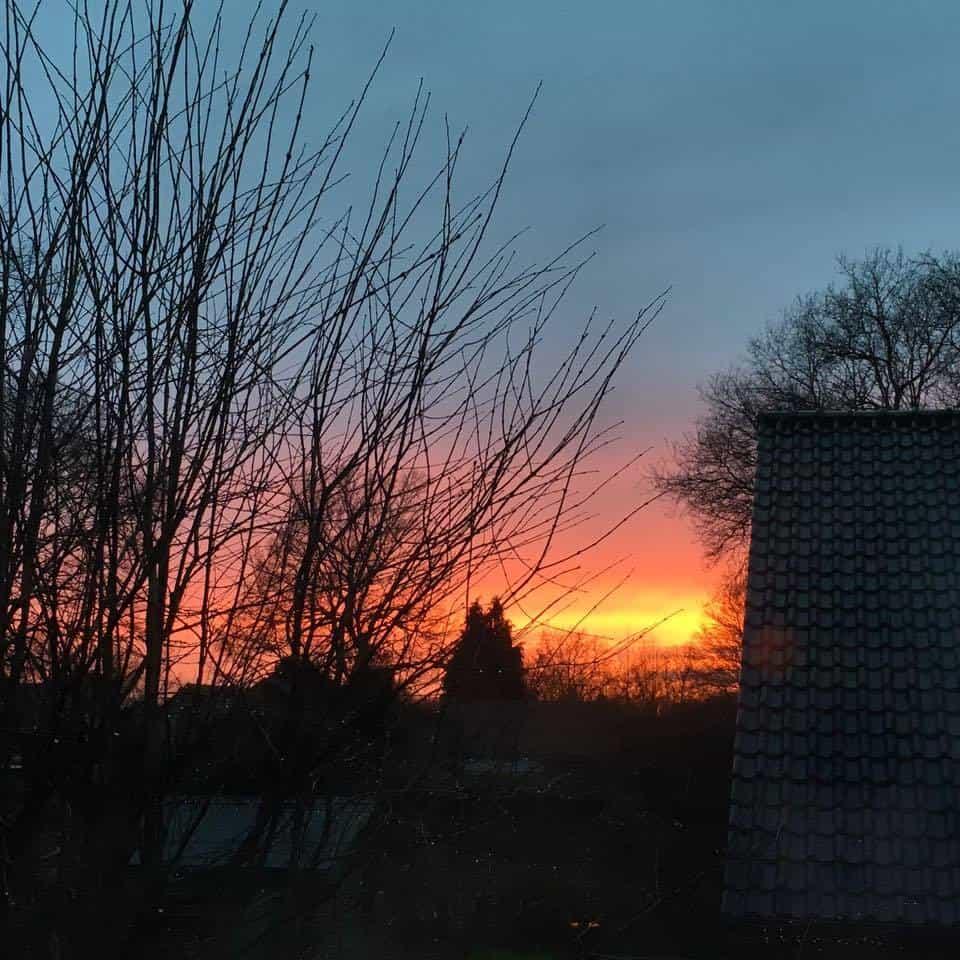 Beautiful sunset in Eeklo (BE) tonight.