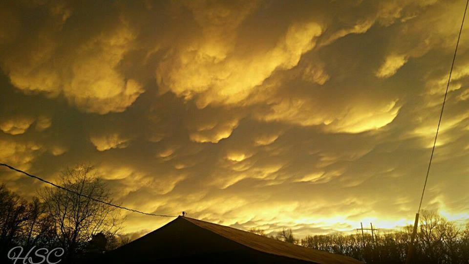We had no storms tonight, but there was some amazing mammatus