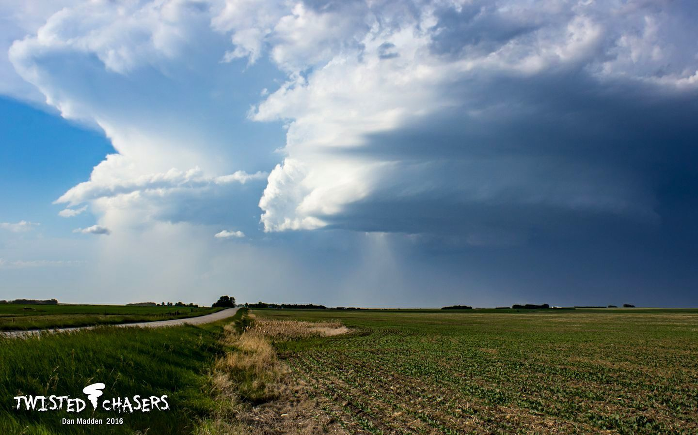 June 7th 2016 Beautiful Meso south of Beiseker AB. Just earlier before this shot, dropped a high base funnel.