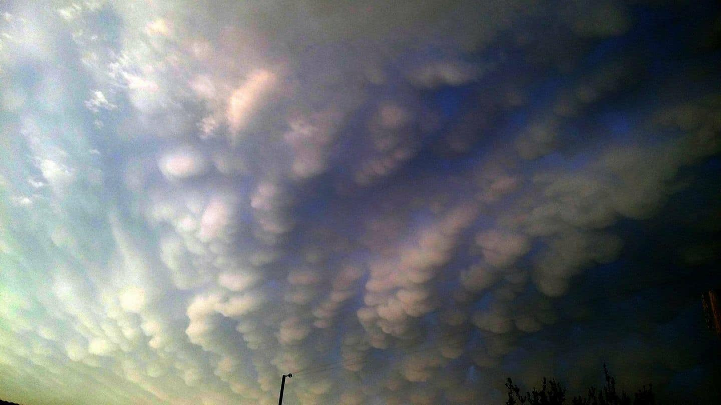 Beautiful mammatus recorded last year!!! Brazil