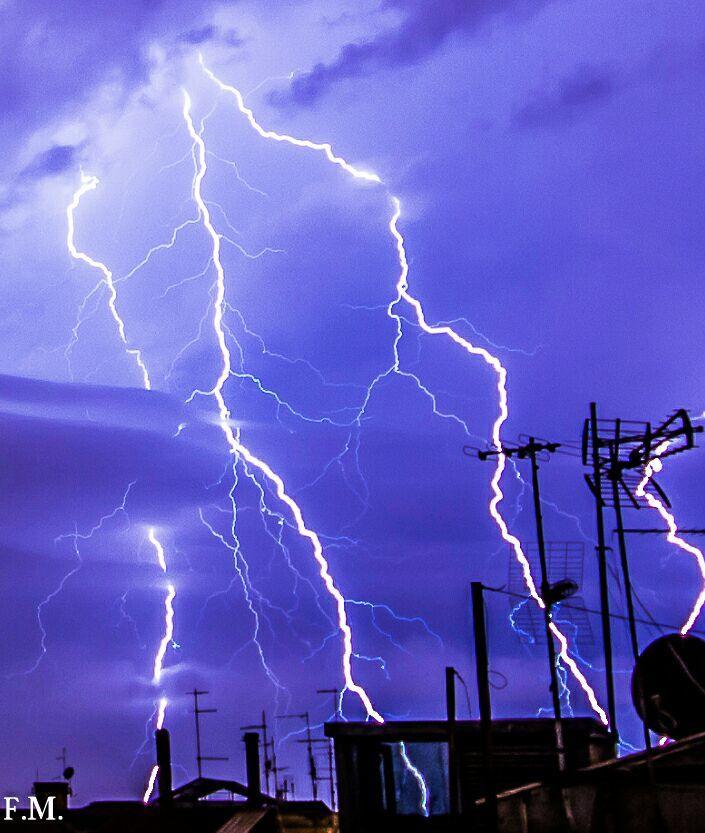 Lightning and antennas... Rome (Italy)