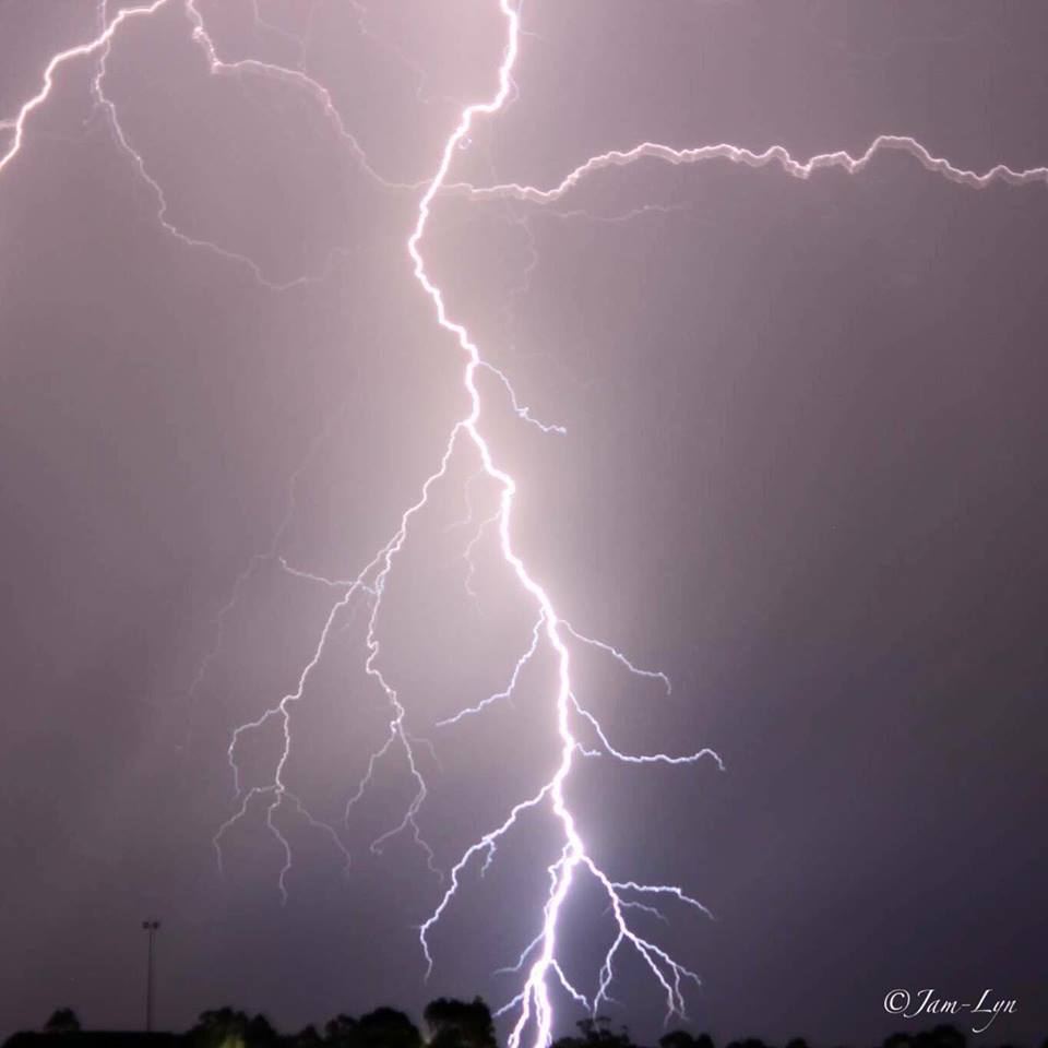 Chasing one night a few years back and scored this direct hit over my hometown of Clifton Queensland Australia