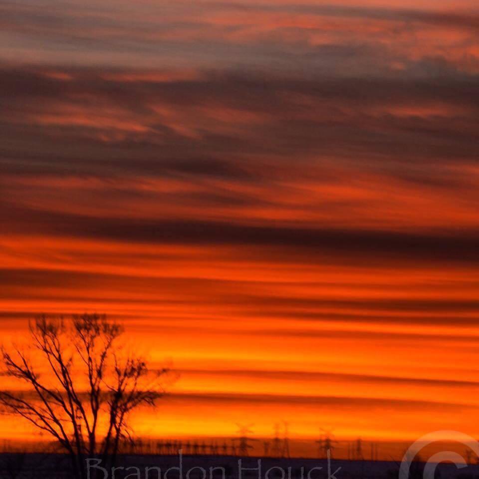 Amazing Sunrise at Brooks Alberta Canada January 13 2017