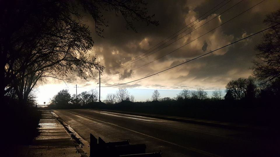 The sky by my house right now