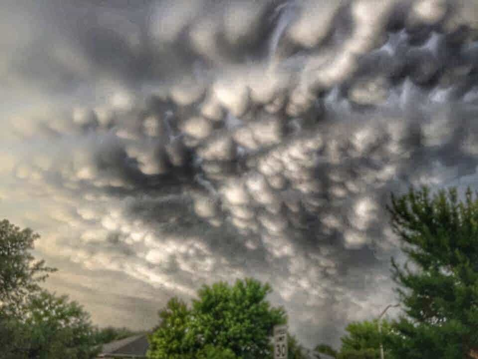 Mammatus Clouds after Tornado Warned Storms in Leander.Tx