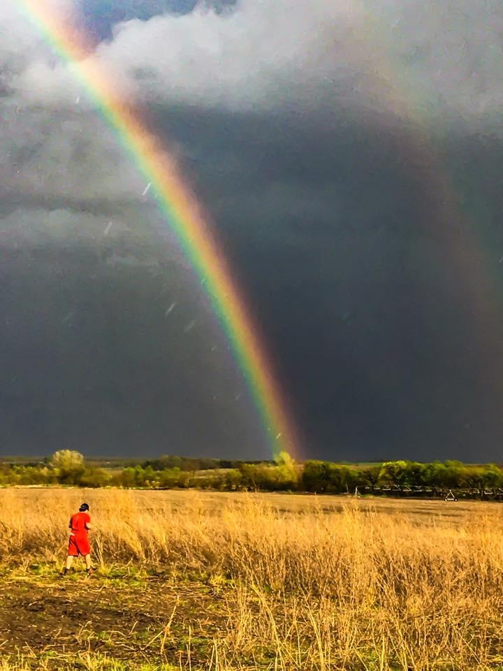 Awesome rainbow in Eastern Nebraska  4/19/17