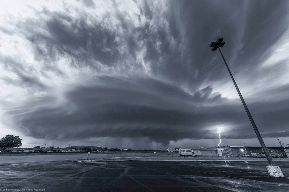 Iowa Park, Texas Supercell on October 16, 2015 — in Iowa Park, Texas.