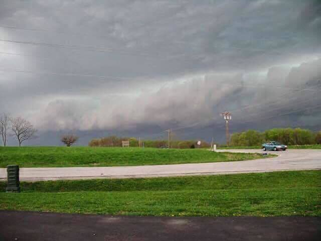 Hi,I'm a junior in High School and this is a picture I took near Lafayette, IN yesterday of a tornado-warned thunderstorm. My first storm picture of the year here in Indiana. Got this nice shot of some Shelf Clouds. I say, this is a pretty good picture that was taken with my iPhone 6s