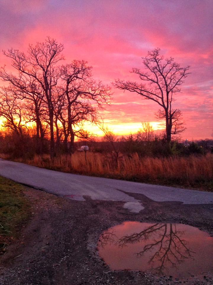 Last week We had a bright sunrise before the Goodman Mo tornado