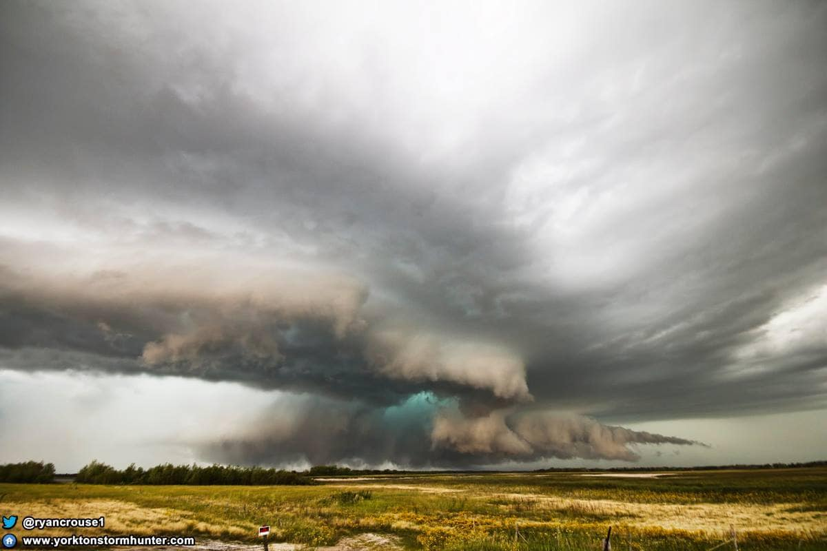 July 31, 2016 Near Yorkton, Sk. Canada while on a Tornado Warned Storm! Caught 3 Tornadoes