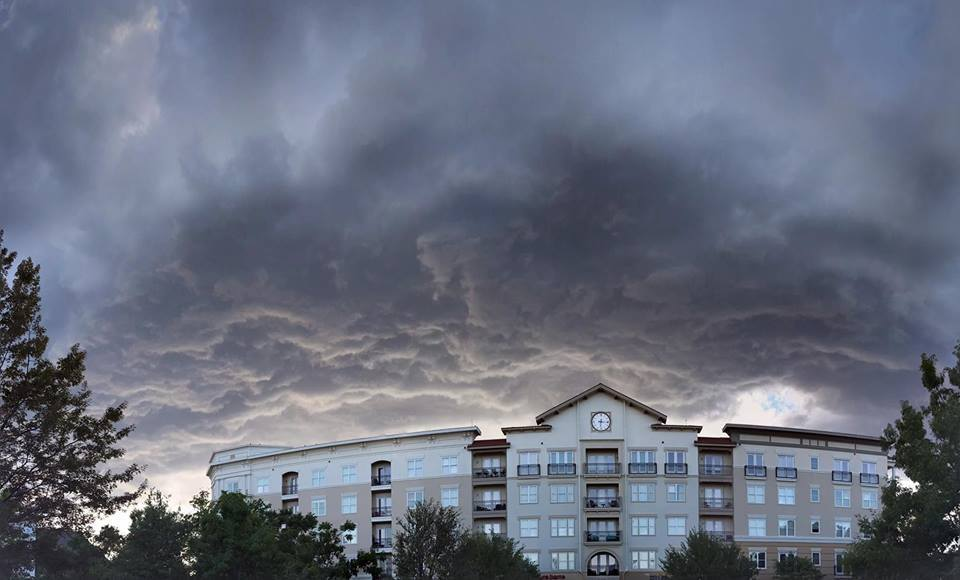Shopping with my daughter in Allen, Tx and these breathtaking clouds showed up... 4-4-17