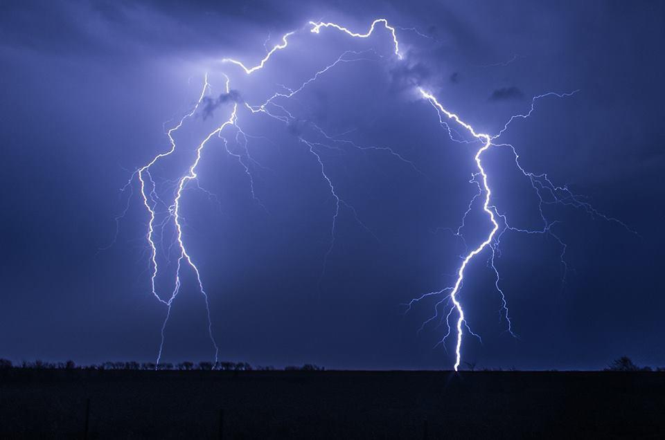 Epic lightning near McPherson, Kansas tonight!