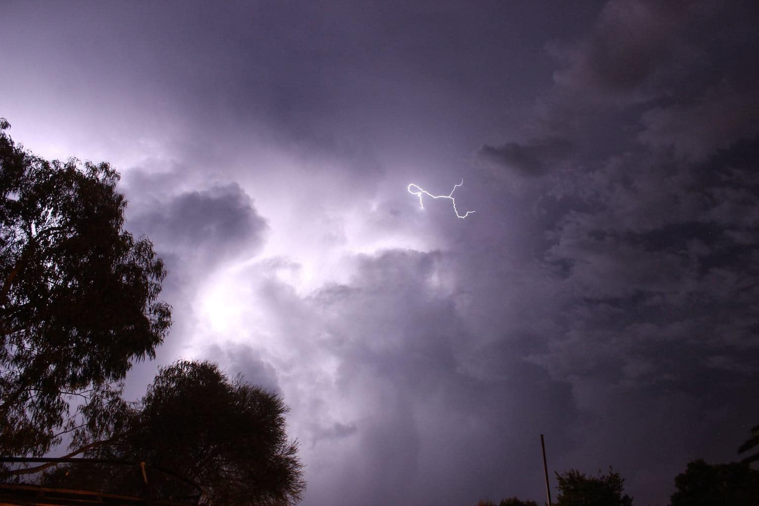 A brief but intense storm passed over Cowra, NSW, Australia. Continuous lightning lit up the sky for over 40 minutes and I took numerous shots from my backyard before rain arrived!! 29th March 2017.