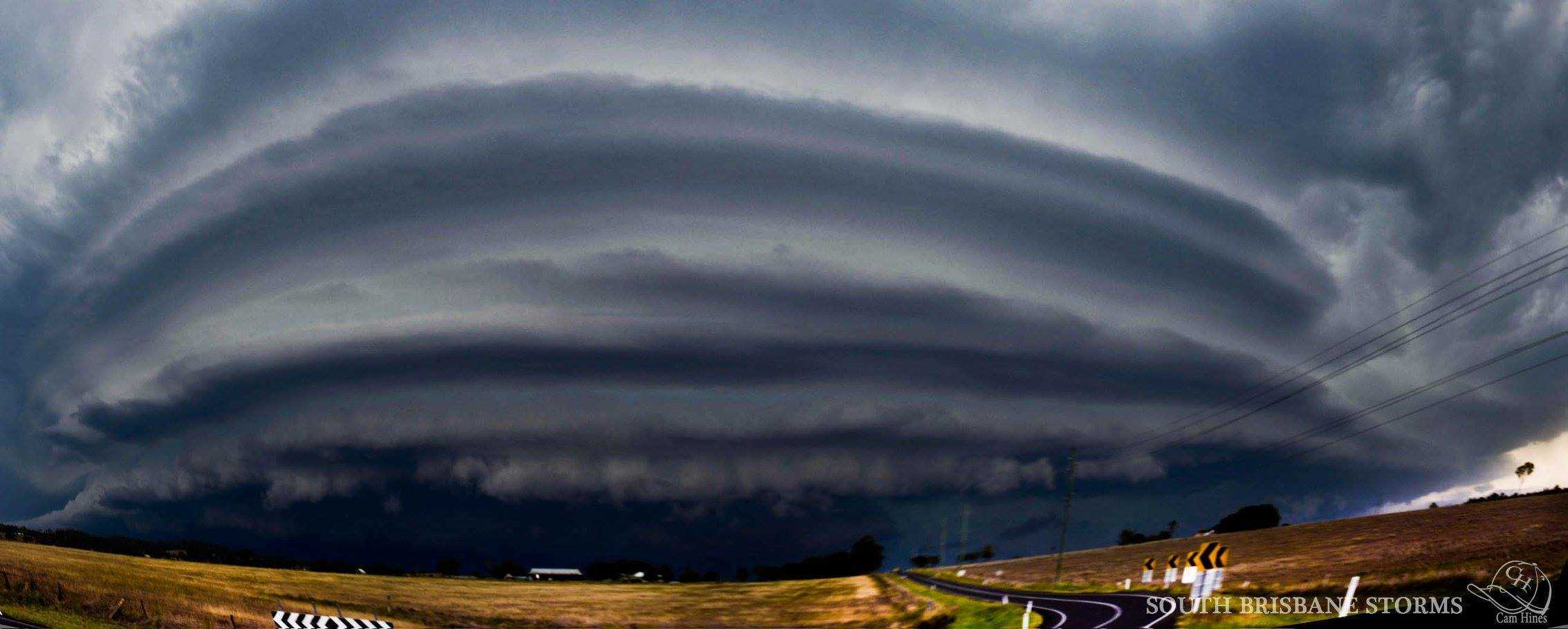 One of my favourite days from this last storm season in Southeast QLD Australia. A layered HP supercell in a town called Harrisville on December 3 last year. This photo is 8 vertical photos stitched together into a pano.