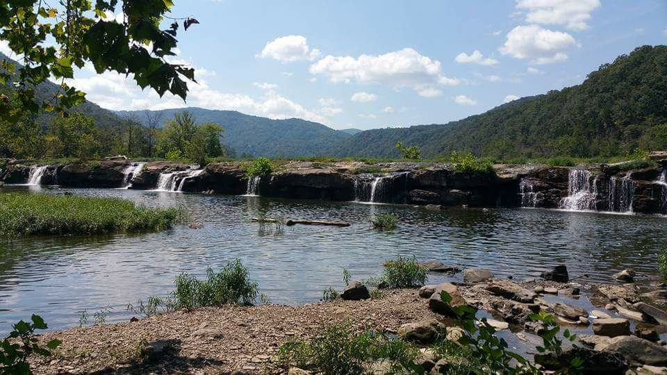 No it's not a tornado or a supercell or even a storm but look how beautiful the mountains an small waterfalls are.....almost heaven......West Virginia