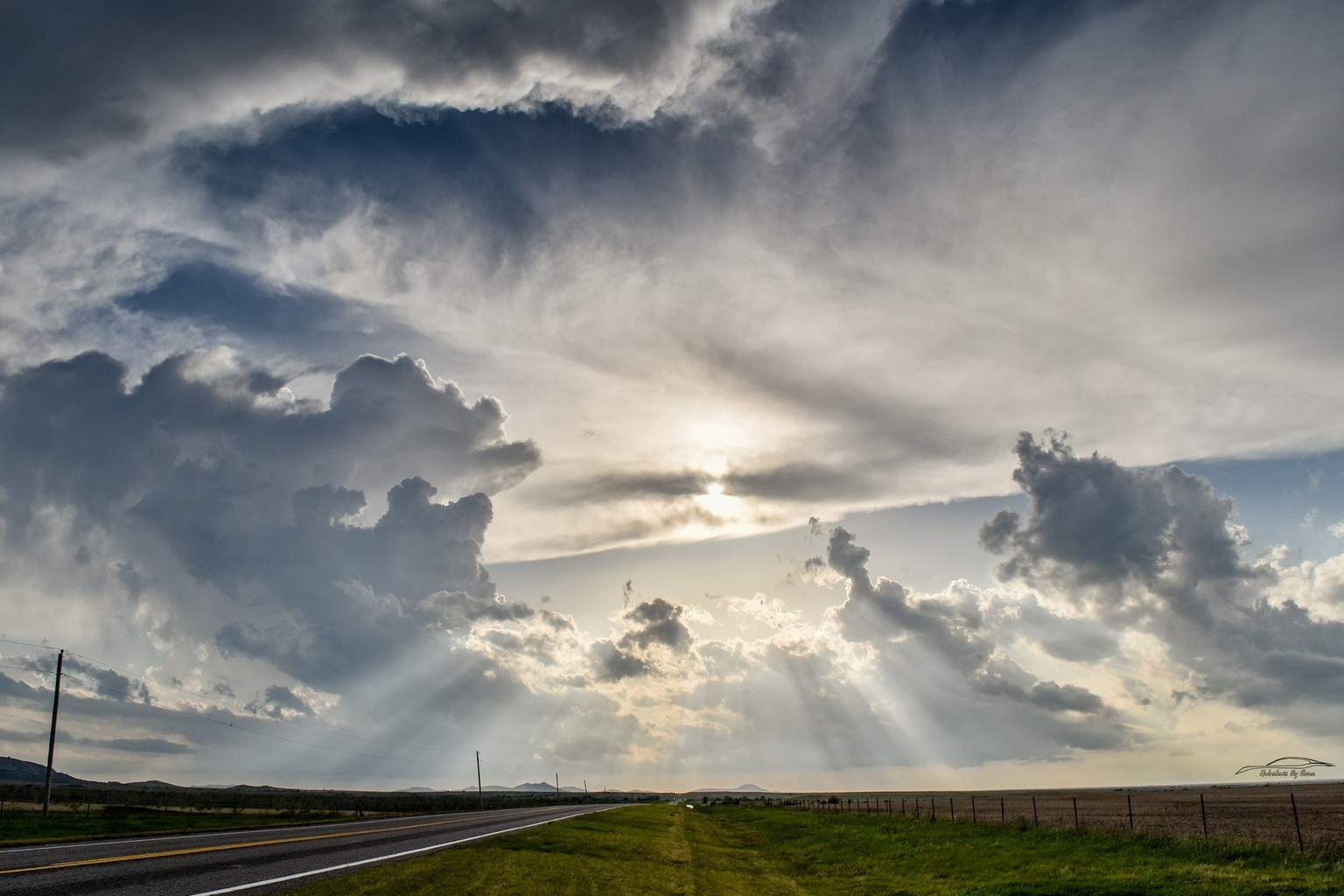 We were out today hoping for a few structure shots of surrounding storms...I just loved the rays in this one. Taken in Southwest Oklahoma, 4/16/17.