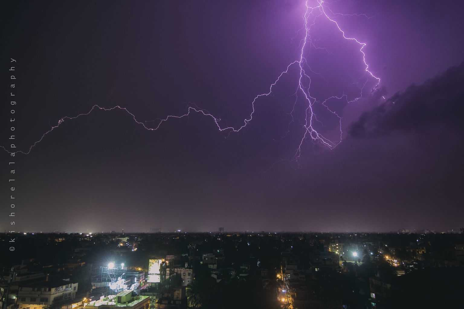 The intense heat finally gave way to some light showers yesterday in Kolkata. I was lucky to capture another lightning shot just before the rain.