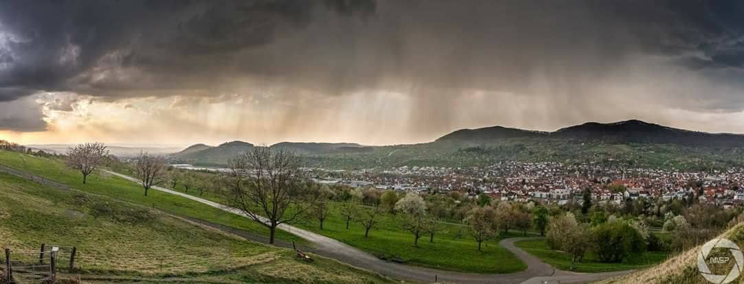 First Thunderstorm this year in my Homearea, Metzingen South West Germany 10.04.2017 — in Metzingen.