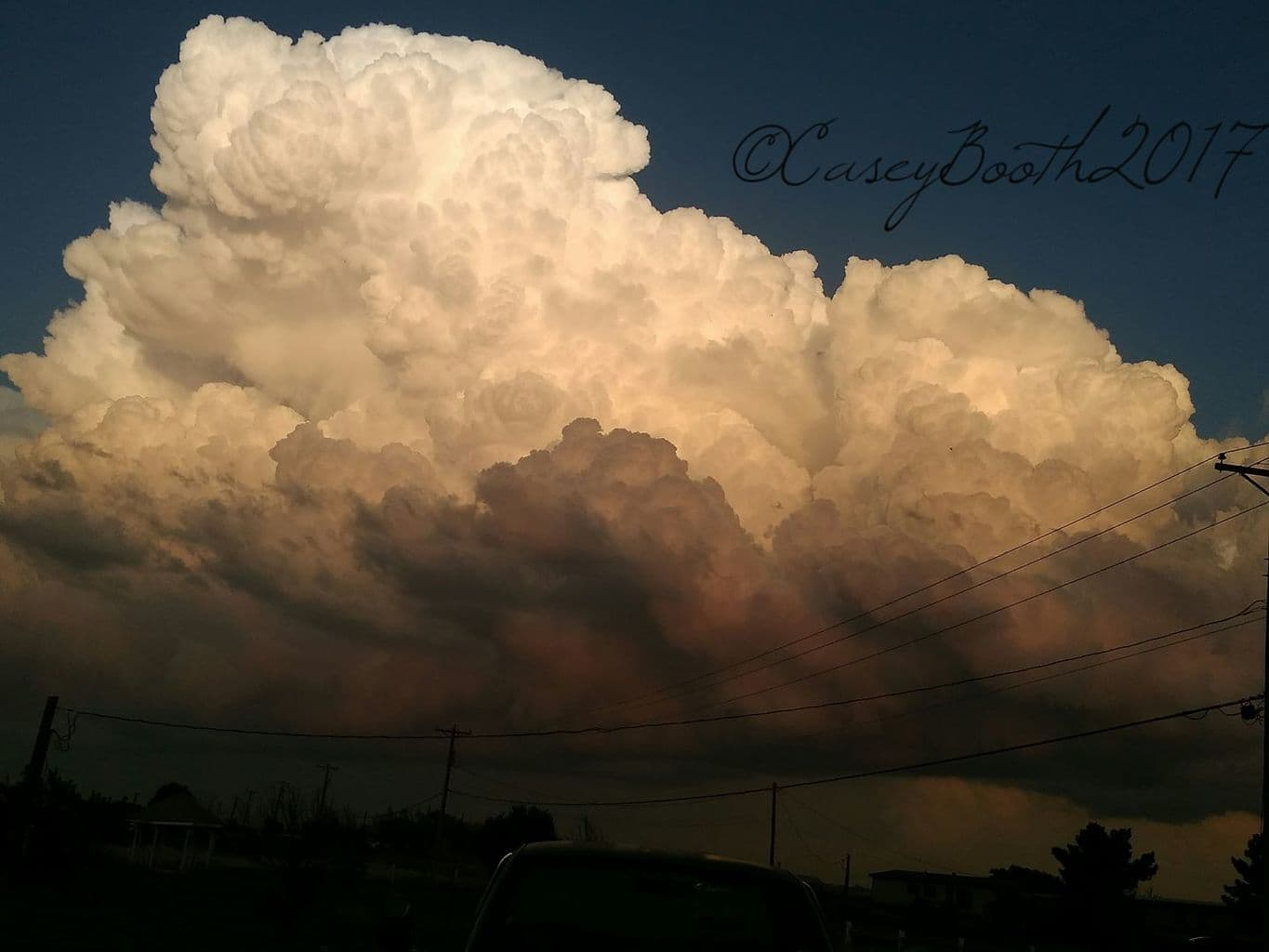 An exploding Supercell over Claude Texas taken Easter Sunday. This storm went severe warned a short time later.