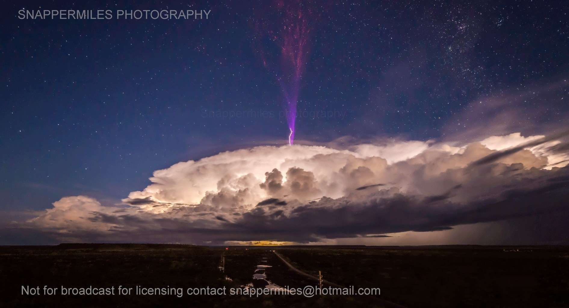 GIGANTIC JETS a form of ionospheric lightning that is rarely captured by camera to put it into perspective this was captured on a nikon d800 and 14mm samyung and is not croppe