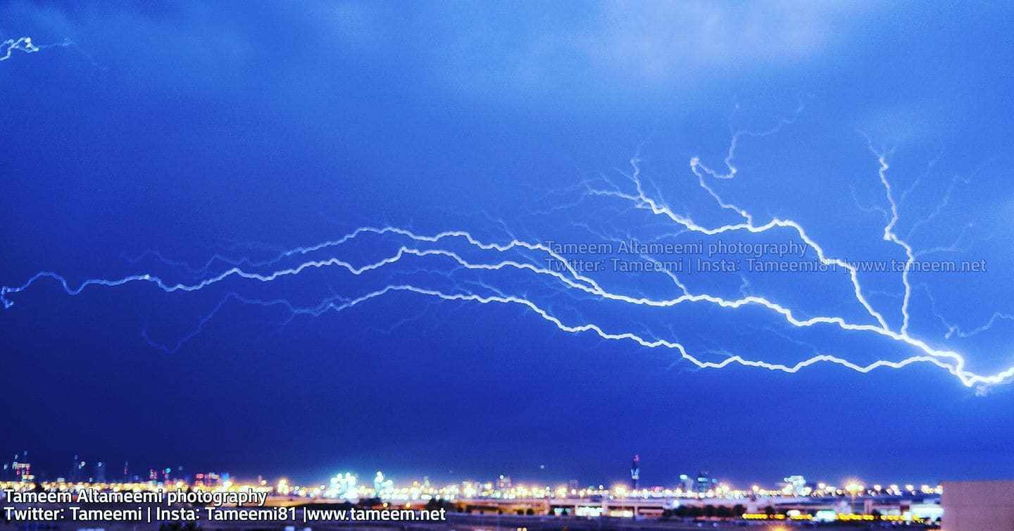 Today early morning in #Dubai  Lighting storm  Sony Alpha a3000