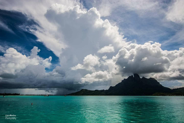 Watching it all go down in Bora Bora.